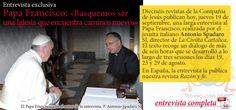 Entrevista al Papa Francisco (19/9/2013).