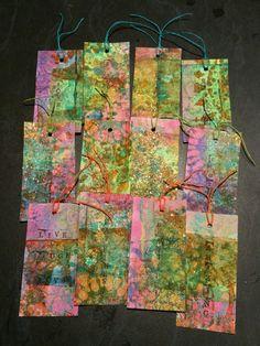 Gelli printed gift tags!