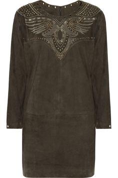 Isabel Marant suede dress, 60% off (via http://chicityfashion.com/suede-trend/)