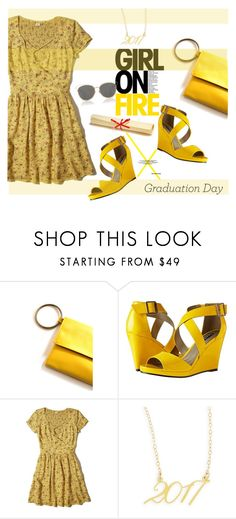 """You Go Girl"" by youaresofashion ❤ liked on Polyvore featuring Michael Antonio, Hollister Co., Brevity., Christian Dior and Graduation"
