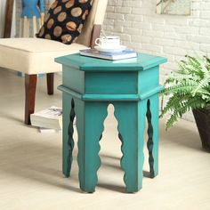 cute stool! love the color