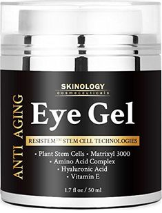 Eye Cream for Dark Circles, Wrinkles, Puffiness, Fine Lines & Bags - The Most Effective Eye Gel for Every Eye Concern - All Natural Anti Aging Skin Firming Gel Treatment for Men and Women - 1.7 fl. oz Skinology Cosmeceuticals http://www.amazon.com/dp/B01AL2JDOA/ref=cm_sw_r_pi_dp_lrj5wb1803T7S