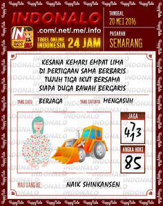 Prediksi Togel Online Live Draw 4D Indonalo Semarang 20 Mei 2016