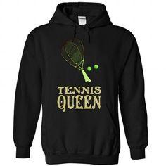 Tennis Queen T Shirts, Hoodies, Sweatshirts. CHECK PRICE ==► https://www.sunfrog.com/LifeStyle/Tennis-Queen--0915-6321-Black-Hoodie.html?41382