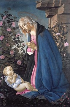 Madonna and Child. Painting by Sandro Botticelli (1445-1510)