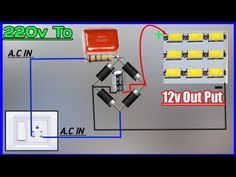 Convert 220v To 12v Dc Power Supply Use 225j Capasitor Connect 12v Led To 220v Without Transformer Youtube Rangkaian Elektronik Teknik Listrik Teknologi