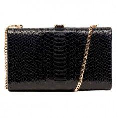 Claudia Canova Snake Print Black Hardcase Clutch http://www.styledit.com/shop/claudia-canova-snake-print-black-hardcase-clutch/