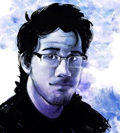 Throw back to a painting I did of @markipliergram a few years back! I might redo this piece since my style has changed so much!  #artist #art #artistoninstagram #markiplier #fanart #portrait #painting #drawing #rootistabootus