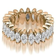 Shop for 2.88 cttw. 14K Rose Gold Marquise Diamond Eternity Ring. Get free delivery at Overstock.com - Your Online Jewelry Shop! Get 5% in rewards with Club O! - 19565363