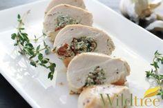 Garlic & Herb Goat Cheese Stuffed Chicken Breasts - Wildtree Recipes- garlic herb and garlic oil