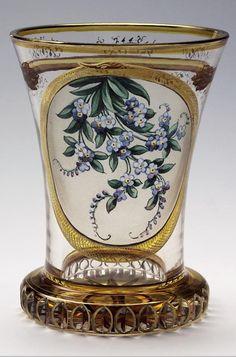 Ranftbecher.Werkstatt Anton Kothgasser, wohl für Joseph & Ludwig Lobmeyr WIEN 2.Hälfte 19.Jahrhundert