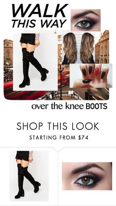 """Over the knee boots"" by jasminechristina ❤ liked on Polyvore featuring Truffle"