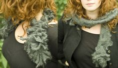 MAKE | How-To: Sew a Ruffled Scarf from recycled wool