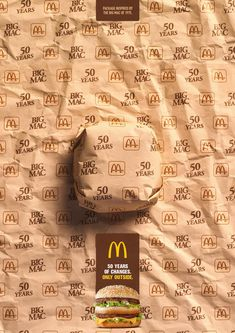 McDonald& Print Ad - Big Mac - Packed in History - 1975 Big Mac, Mr Macs, Mcdonalds Kids, Food Box Packaging, Clever Advertising, Ads Creative, Creative Ideas, Commercial Ads, Packaging