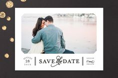 Sterling Save the Date Cards by Sarah Brown at minted.com