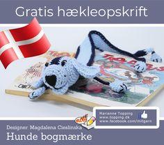 Hunde bogmærke - gratis hækleopskrift, på dansk selvfølgelig! En hæklet gave til et skolebarn eller måske til dig selv. Hækles skal det - kom og download! Crochet Bookmarks, Book Marks, Neckties, Pin Cushions, Crochet Ideas, Snoopy, Design, Crocheting Patterns, Crochet Bookmark Pattern