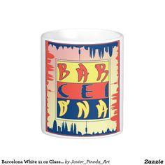 Barcelona White 11 oz Classic White Mug