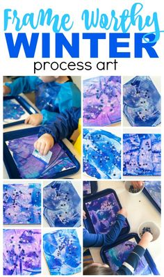 A beautiful winter process art for toddlers project that you will love to keep forever. Winter art project that also strengthens fine motor skills Preschool Art Projects, Art Activities For Toddlers, Toddler Art Projects, Projects For Kids, Art Center Preschool, Winter Art Projects, Holiday Crafts For Kids, Process Art, Art For Kids