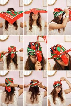 How to tie a Turban Scarf Headband