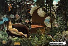 The Dream Henri Rousseau - Famous Art - Handmade Oil Painting On Canvas — Canvas Paintings Henri Rousseau, Post Impressionism, Impressionist, Oil Painting On Canvas, Painting & Drawing, Glasgow School Of Art, Famous Artwork, Art Moderne, Abstract Oil