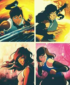 Korra | Book 1, 2, 3 and 4