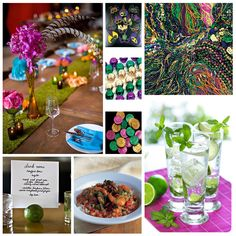 Love a good party. how about the well know Mardi Gras street party in New Orleans as a wedding theme Purple, Green and Yellow - colour .