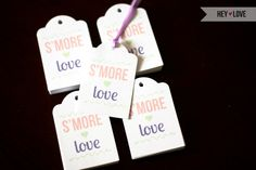"""""""s'more love"""" wedding favor tags for my friend's wedding - great job @Michelle Nguyen!"""