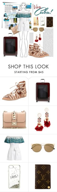 """""""Untitled #19"""" by debysilviaa-1 ❤ liked on Polyvore featuring DK, Oris, Gentle Souls, Ted Baker, Valentino, Tory Burch, Mara Hoffman, Vera Wang, Kate Spade and Louis Vuitton"""