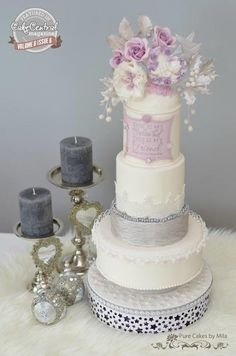 My Beloved - My Friend A Purple Christmas Wedding  by Mila - Pure Cakes by Mila - http://cakesdecor.com/cakes/228253-my-beloved-my-friend-a-purple-christmas-wedding