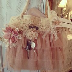 Madeleine L'Amour feminine bag inspiration with flowers and tulle ballerina