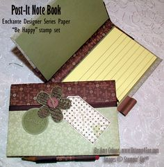 Directions that can downloaded on how to make a post-it note book