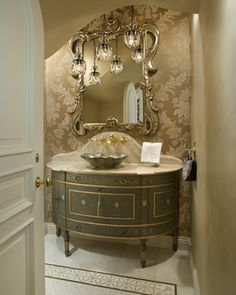 Wohnwelten Bathroom ideas Your Style, Your Budget Tired of ogling the latest styles in brand name ho Tuscan Bathroom, French Bathroom, Victorian Bathroom, Classic Bathroom, Powder Room Design, Home Furnishing Stores, Bathroom Design Luxury, Small Apartment Decorating, Kitchen And Bath