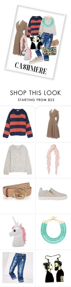 """Cashmere love #cashmere"" by maryann-bunt-deile ❤ liked on Polyvore featuring Chloé, Chan Luu, Gucci, Ash, Miss Selfridge, BaubleBar and Tommy Hilfiger"