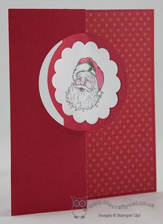 Best of Christmas Santa Thinlit Card Best of Christmas, Circle Thinlit Card Joanne James, Stampin Up demonstrator, www.blog.thecraftyowl.co.uk