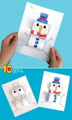 Most current Screen Snowman Crafts kindergarten Suggestions You don't need a wonder magic wand to generate marvelous reminiscences during the winter months. Preschool Christmas Crafts, Winter Crafts For Kids, Diy For Kids, Bear Crafts, Easy Arts And Crafts, 3d Christmas, Snowman Crafts, Snowman Wreath, Kids Cards
