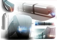 Concept tram ( Alstom work ) on Behance