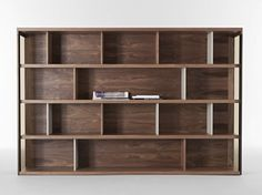 Wooden bookcase PILONE Italia Collection by Casa | design Mauro Lipparini