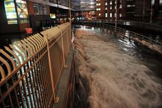 Impact of Hurricane Sandy on New York City Oct 29, 2012. Water flowing into Brooklyn Battery Tunnel.