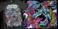 """Meanmugg"" t-shirt design by BrandonHeart"