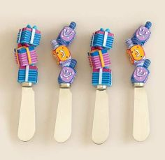 Rite Lite SCR-8 Chanukah Spreaders - Set of 4 - Pack of 3 by Rite Lite. $38.05. Artist: Jenji.. Color/Finish: Multi-color.. Dimensions: 1.00 L x 0.75 W x 5.00 H... Great Gift Idea.. Season: Chanukah.. Dimensions: 1.00 L x 0.75 W x 5.00 H.. Color/Finish: Multi-color. Season: Chanukah. Artist: Jenji. Great Gift Idea.