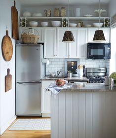 Small Kitchen Layout Ideas Cozy Kitchen, New Kitchen, Kitchen Ideas, Kitchen Small, Awesome Kitchen, Design Kitchen, Studio Kitchen, Kitchen Pantry, Compact Kitchen
