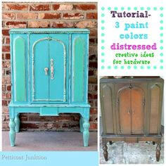 Creative Hardware Ideas and Paint Tutorial For Cabinet