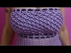 How tp #Crochet Cute Womens Top Blouse Shirt Dress #TUTORIAL #224 - YouTube