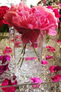flowers arrangements   Peony Flower Wedding Ceremony Arrangements, Table Centerpieces, Head ...