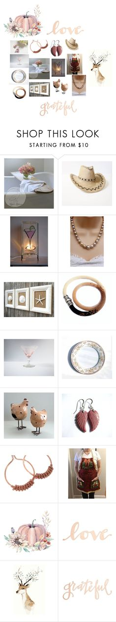 Thankful by therusticpelican on Polyvore featuring Primitives By Kathy, modern, contemporary, rustic and vintage