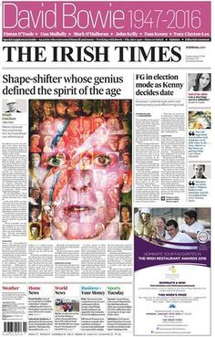 The Irish Times front page