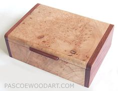 Maple burl and bubinga keepsake box