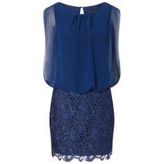 Buy Aidan Mattox Chiffon Blouson Lace Cocktail Dress Online at johnlewis.com