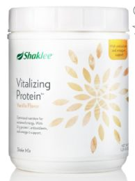 Shaklee Vitalizing Protein Smoothie - non GMO protein -Optimized nutrition for sustained energy. -23g† of protein and 6g of fiber to help power your day -23 vitamins and minerals, and antioxidant and omega-3 support