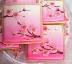 Japanese Cherry Blossoms     By Pretties and Pastries    http://prettiesandpastries.blogspot.com